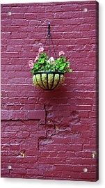 Acrylic Print featuring the photograph Rochester, New York - Purple Wall by Frank Romeo