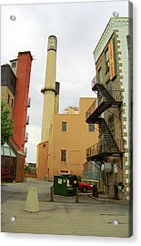 Rochester, Ny - Behind The Bar And Factory 2005 Acrylic Print by Frank Romeo