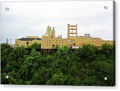 Acrylic Print featuring the photograph Rochester, Ny - Factory On A Hill by Frank Romeo
