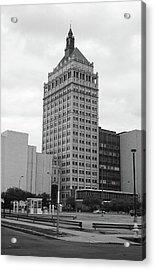 Rochester, Ny - Kodak Building 2005 Bw Acrylic Print