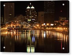 Rochester On The Genesee Acrylic Print
