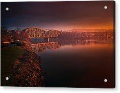 Rochester Train Bridge  Acrylic Print