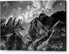 Rock #9542 Bw Version Acrylic Print