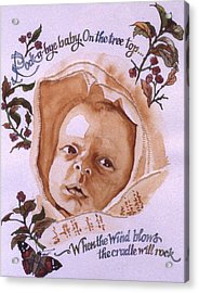 Rock A Bye Baby Acrylic Print by Victoria Heryet