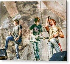 Rock And Roll Band Version 2 Acrylic Print by Randy Steele