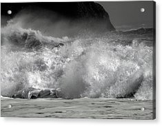 Rock And Roll Black Sand Beach Iceland Acrylic Print by Betsy Knapp