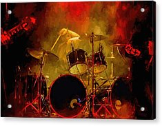Rock And Roll Drum Solo Acrylic Print