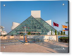 Rock And Roll Hall Of Fame I Acrylic Print by Clarence Holmes