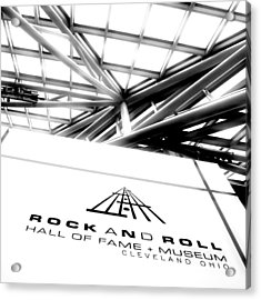 Rock And Roll Hall Of Fame Acrylic Print by Kenneth Krolikowski