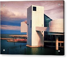 Rock And Roll Hall Of Fame Acrylic Print by Shawna Rowe