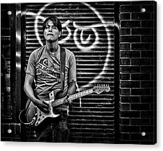 Rock And Roll In Kensington Market Acrylic Print by Brian Carson