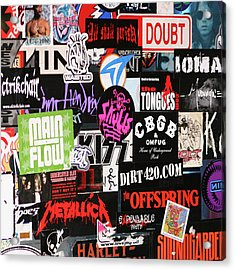 Rock And Roll Stickers Acrylic Print