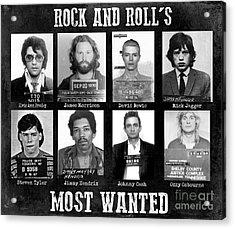 Rock And Rolls Most Wanted Acrylic Print by Jon Neidert