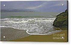 Rock And Sand Acrylic Print