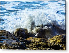 Rock And Wave Acrylic Print