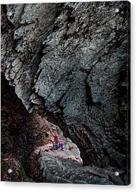 Acrylic Print featuring the photograph Rock Arch Of Meditation by David A Lane