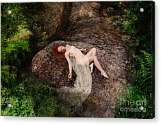 Rock Bathing Acrylic Print