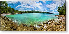 Acrylic Print featuring the photograph Rock Beach At Manuel Antonio National Park by Owen Weber