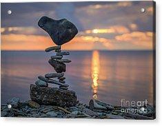 Rock Boarding Acrylic Print