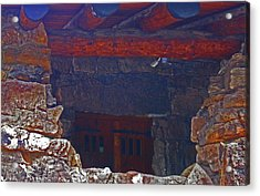 Acrylic Print featuring the photograph Rock Building by Tammy Sutherland
