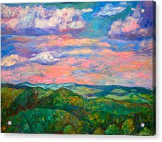 Acrylic Print featuring the painting Rock Castle Gorge by Kendall Kessler