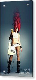Rock Chick Acrylic Print