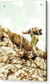 Rock Climbing Mountaineer Acrylic Print