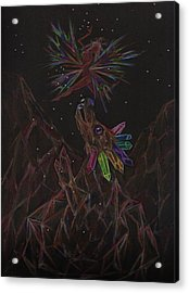 Acrylic Print featuring the drawing Rock Collecting by Dawn Fairies