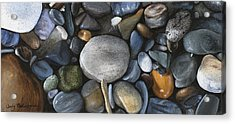 Rock Collection Acrylic Print by Wendy Ballentyne