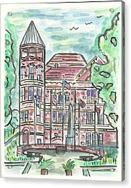 Rock County Courthouse Square Acrylic Print by Matt Gaudian