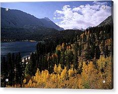 Rock Creek Lake Fall Color Acrylic Print by Don Kreuter