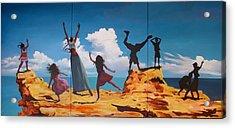 Rock Dancers Acrylic Print by Geoff Greene