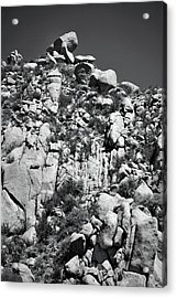 Rock Face Sandia Mountain Acrylic Print