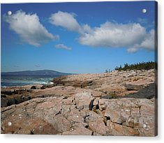 Rock Flow At Schoodic Point Acrylic Print by Francine Frank