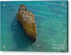 Rock Formation And The Sea In Algarve Acrylic Print