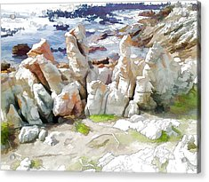 Rock Formation Bettys Bay Acrylic Print by Jan Hattingh