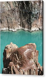 Acrylic Print featuring the photograph Rock Formation Of Zanskar, Ladakh, 2009 by Hitendra SINKAR