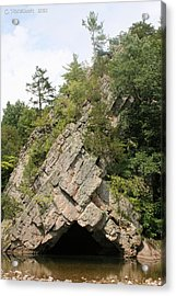 Rock Formation On The North Fork Of The South Branch Of The Potomac River 2 Acrylic Print by Carolyn Postelwait