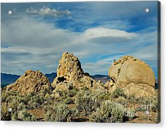 Acrylic Print featuring the photograph Rock Formations At Pyramid Lake by Benanne Stiens