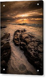 Rock Formations On The Shore Acrylic Print