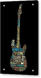 Rock Guitar Legends Acrylic Print by Bill Cannon
