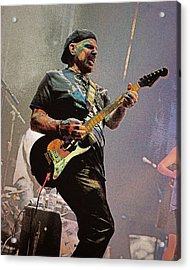 Rock Guitar Player Acrylic Print by Jim Mathis