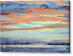 Rock Hall Sunset Acrylic Print by Cindy Roesinger
