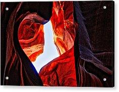 Rock Heart Acrylic Print