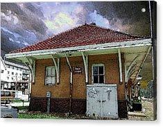 Rock Island Depot Iowa City Acrylic Print by Jame Hayes