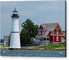 Rock Island Lighthouse July Acrylic Print