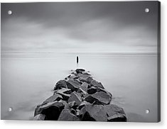 Rock Jetty At The Chesapeake Bay Acrylic Print by MariAnne MacGregor