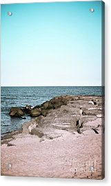 Acrylic Print featuring the photograph Rock Jetty by Colleen Kammerer