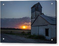 Rock Ks Sunset Acrylic Print by Lori Root