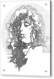 Rock Legend Acrylic Print by Karen Clark